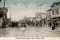 Vintage Barron - LaSalle street looking west - Small