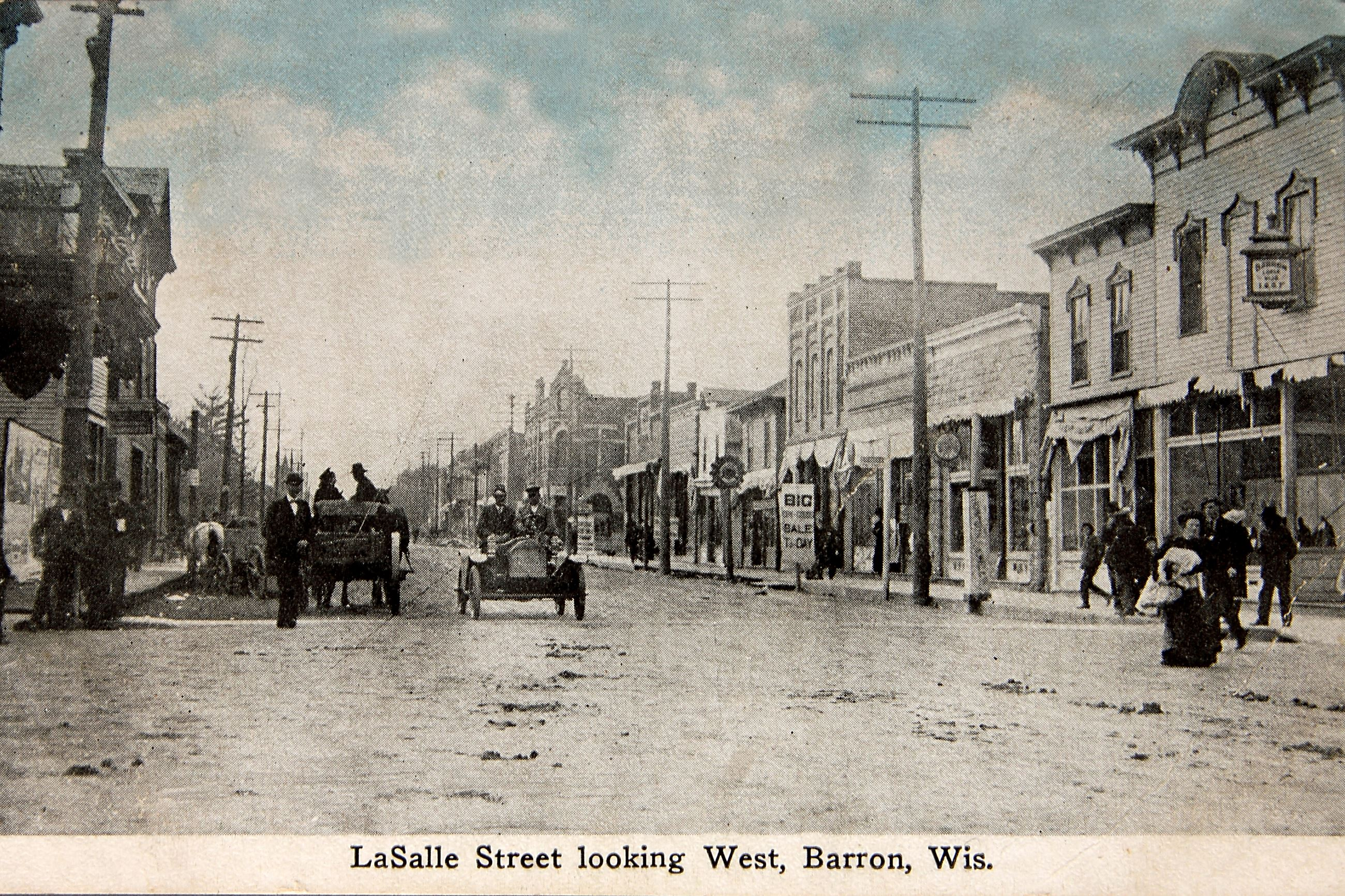 Vintage Barron - LaSalle street looking west